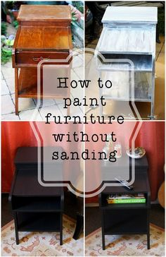 How to paint furniture without sanding Love finding solid wood furniture on the street and giving it an easy update. #LowesCreator #Sponsored