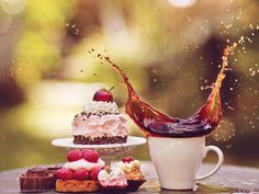 cake and coffee II by ~violetkitty92 on deviantART
