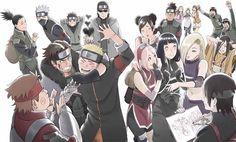 aburame shino akimichi chouji blush cheek swirl everyone forehead protector haruno sakura hyuuga hanabi hyuuga hinata inuzuka kiba might guy multiple boys multiple girls nara shikamaru naruto: the last naruto (series) official art rock lee s Naruto Uzumaki, Anime Naruto, Gaara, Madara Susanoo, Shikamaru, Naruto And Sasuke, Naruhina, Manga Anime, Hinata Hyuga