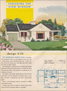 post war style and mid century | Post-War Housing - 1945 Style Trends - National Plan Service - Mid ...