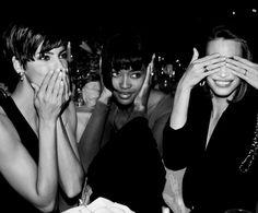 Linda Evangelista, Naomi Campbell & christy Turlington The Plaza hotel, New York, 1989