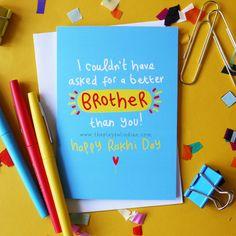 Raksha bandhan greetings card by … - Modern Raksha Bandhan Photos, Raksha Bandhan Cards, Raksha Bandhan Wishes, Raksha Bandhan Gifts, Happy Raksha Bandhan, Diy Rakhi Cards, Rakhi Quotes, Rakhi Greetings, Raksha Bandhan Greetings