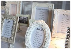 Vintage frames - could be used for menu options, beer and wine choices, etc...