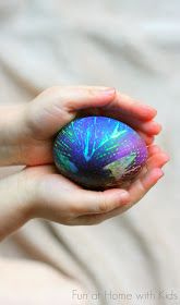 Fun at Home with Kids: DIY Easter Eggs: Tie Dyed Eggs
