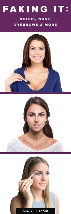 Every woman was born BEAUTIFUL, but every now and then we all think about the ares that could use a little boost. Whether you want to give the illusion of a fuller bust, want a slimmer face or want a thinner nose without having to undergo painful and costly surgery, we'll show you how to contour EVERYTHING with this simple beauty and makeup tutorial.