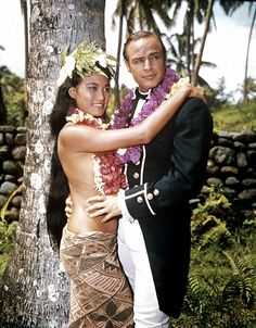 Marlon Brando with Tarita for Mutiny on the Bounty 1962
