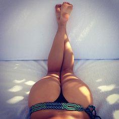 Tribal belted bikini