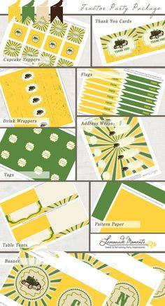 Tractor / John Deere Printable Party Package - INSTANT DOWNLOAD. $15.00, via Etsy. www.lemonademoments.com