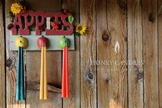 Fall Beeswax Candles for Thanksgiving with a Burst of Tangerine