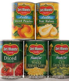 Register to win 5 varieties of Del Monte canned products AND a $25 Visa giftcard from RoscoeRamblings.com