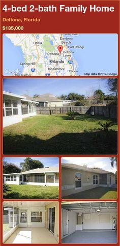 4-bed 2-bath Family Home in Deltona, Florida ►$135,000 #PropertyForSale #RealEstate #Florida http://florida-magic.com/properties/88425-family-home-for-sale-in-deltona-florida-with-4-bedroom-2-bathroom