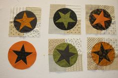Star in a circle - pattern and tutorial available on the link to American Quilting in Orem