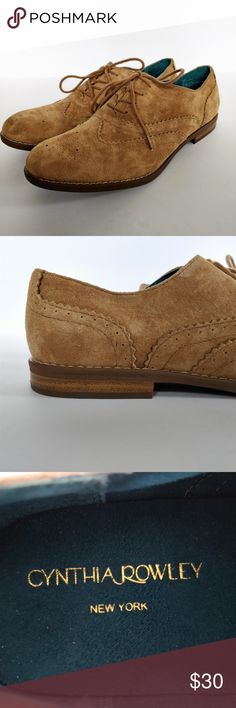 "NEW Cynthia Rowley suede oxford shoes ""Hazel"" sz 9 Darling and comfortable! Tan suede oxford shoes by Cynthia Rowley.  New without box. Size 9.  Thank you for visiting my closet!  Please feel free to ask a question or make an offer!  Happy poshing!!! :) Cynthia Rowley Shoes Flats & Loafers"