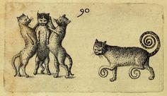1609. Monstrorum historia memorabilis. Monstrous cats.