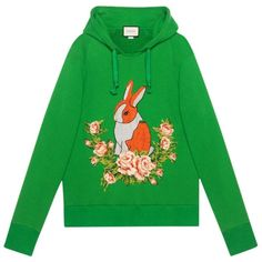 Gucci Rabbit Jersey Oversize Sweatshirt (€1.505) ❤ liked on Polyvore featuring tops, hoodies, sweatshirts, sweaters, jumper, clothing /, kirna zabete, jersey top, gucci sweatshirt and mixed print top