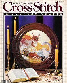 Cross Stitch and Country Crafts Magazine 36 Projects Christmas Bible Cover #CB06 #CrossStitch