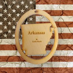 Handcrafted Arkansas Christmas Ornament! Personalized FREE!