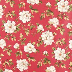 Rouge Jardin Curtain Fabric (terrysfabrics)