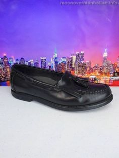 Rockport Vibram Handsewn black tassle kiltie Moccasin Loafer Mens Shoes sz 8.5 M #Rockport #LoafersSlipOns
