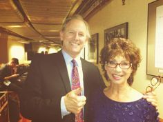 The Fifth Doctor and Susan...Peter Davison and Carole Ann Ford at the 2013 Doctor Who Proms