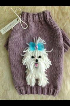 Discover recipes, home ideas, style inspiration and other ideas to try. Baby Knitting Patterns, Knitting For Kids, Hand Knitting, Crochet Patterns, Dog Sweater Pattern, Crochet Dog Sweater, Crochet Baby, Knit Crochet, Small Dog Sweaters