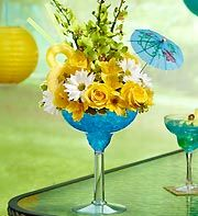 Blue Hawaiian Floral Margarita.  LOVE this!!  They have all kinds/colors...even beer, lol