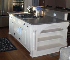 66 trendy kitchen island with stove top wall ovens Kitchen Island With Cooktop, Island Cooktop, Kitchen Island Storage, Kitchen Island With Seating, Kitchen Stove, Kitchen Redo, Kitchen Islands, Island Stove, Kitchen Ideas