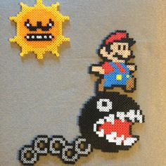 Mario´s day perler beads by Kelly Bond