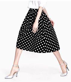 1be4ff0493231 Manu Plus Size Women 2015 Vintage Pleated Summer Style High Waist Midi Skirt  Saia Feminino Retro Dot Pleated Midi Skirt