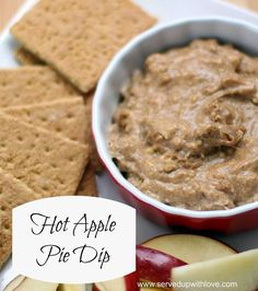 Served Up With Love: Hot Apple Pie Dip- Crock Pot apple dip recipe with bits of apples and spices. http://www.servedupwithlove.com