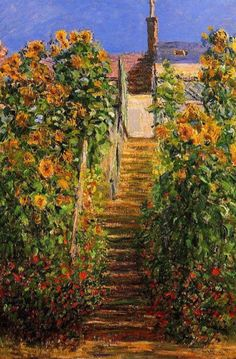 Claude Monet The Steps at Vetheuil painting for sale, this painting is available as handmade reproduction. Shop for Claude Monet The Steps at Vetheuil painting and frame at a discount of off. Pierre Auguste Renoir, Claude Monet, Monet Paintings, Landscape Paintings, Artist Monet, William Adolphe Bouguereau, Art Japonais, Camille Pissarro, Edgar Degas