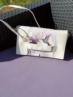 Pochette Cachôtin tissu colibris cousue par Tite Guigui - Patron gratuit Sacôtin