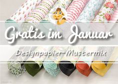 Gratis Papier Designpapier stamppin up SU Sammelbestellung