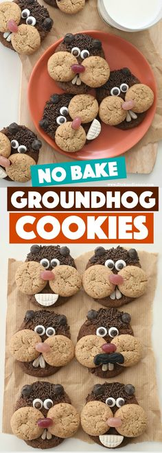 Celebrate Puxatawny Phil's prediction with your kids with these easy, no bake Groundhog Day Cookies Easy No Bake Cookies, Cookies For Kids, No Bake Cake, Easy Baking For Kids, Cooking With Kids Easy, Baking Ideas, Baking Soda Face, Baking Soda Uses, Kids Cooking Party