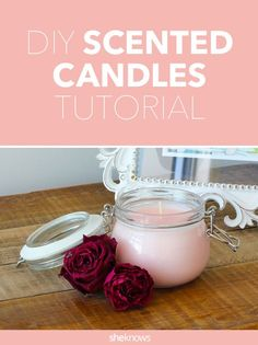 diy candles Easy-to- DIY scented candle recipe. Choose essential oils based on your desired mood or effect - such as lavender for calming, or grapefruit to invigorate. Thrift Store Diy, Homemade Scented Candles, How To Make Scented Candles At Home, Essential Oil Candles, Candle Craft, Aromatherapy Candles, Candlemaking, Do It Yourself Home, My New Room