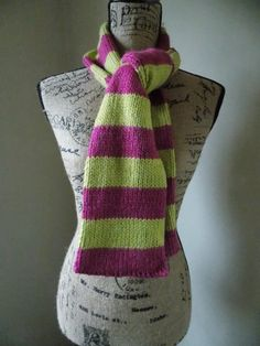 Fushia and Lime Scarf by cheshirecatmad on Etsy, $38.00