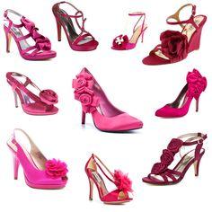 6a4801e36e4b1 On the hunt for some Fuschia shoes to go with a black bridesmaids dress