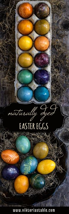 Naturally dyed Easter eggs - natural and safe, these rich, earthly colors, derived from fruits, veggies, and spices will blow your mind away! | www.viktoriastable.com