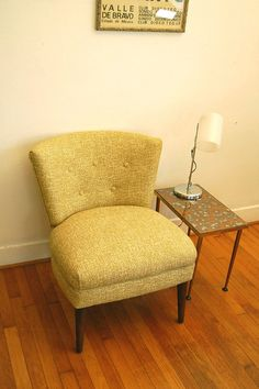 Vintage Mid Century Slipper Chair by ljindustries on Etsy