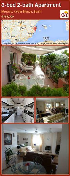 3-bed 2-bath Apartment in Moraira, Costa Blanca, Spain ►€325,000 #PropertyForSaleInSpain