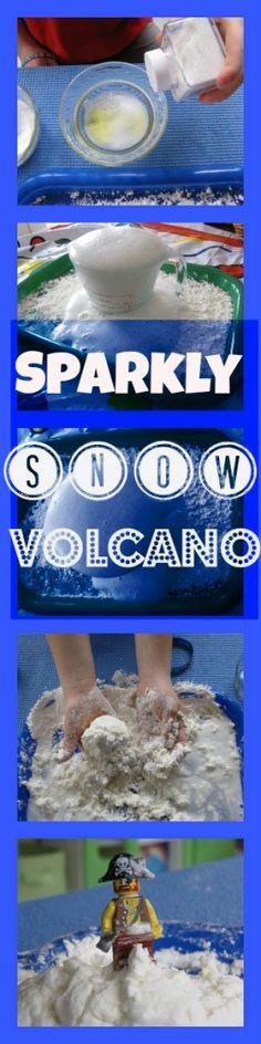 Sparkly snow volcano!