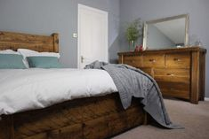LazyDays Reclaimed Wood High-Back Bed - Modish Living Reclaimed wood bed