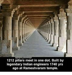 1740 years old temple at Rameshwaram, India. 1212 pillars meet at one dot! Incredible India Indeed! , 1740 years old temple at Rameshwaram, India. 1212 pillars meet at one dot! Incredible India Indeed! 1740 years old temple at Rameshwaram, India. Detail Architecture, Indian Temple Architecture, Ancient Architecture, Amazing Architecture, Gothic Architecture, Interesting Facts About World, Amazing Facts, Interesting News, India Facts