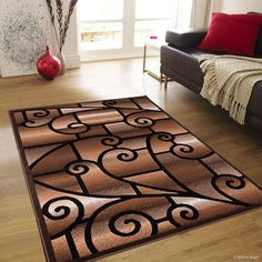 Chocolate Modern And Chic Traditional Aubusson Rug