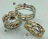 vine wedding rings