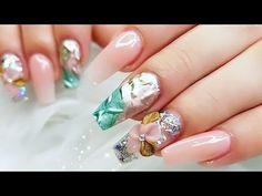Nail Art Designs 2018 how to make acrylic nails mirror metallic/Como hacer uñas con fecto espejo - YouTube Sally Hansen, Nail Art Videos, Create, Nails, Youtube, Beauty, How To Make, Picture Cards, Mirrors