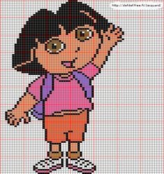 Dora the explorer perler bead pattern