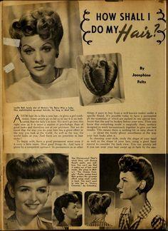 Pin Curls Vintage Hair Ideas - Screenland (May Vintage Hairstyles Tutorial, 1940s Hairstyles, Wedding Hairstyles, Hairstyles Videos, Victory Rolls, Long To Short Hair, Short Hair Styles, Vintage Makeup, Vintage Beauty