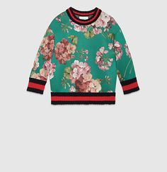 Gucci - blooms print jersey sweatshirt 410633X64683176