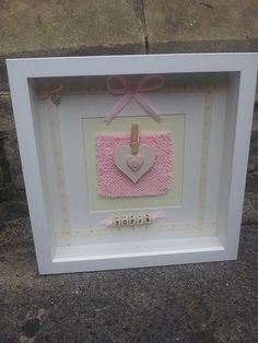 Personalised New Baby/Christening 3D Box by TinkersTreasuresUK